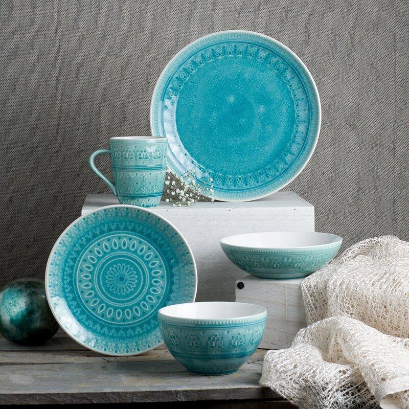Halsey 20 Piece Dinnerware Set Service for 4 & Halsey 20 Piece Dinnerware Set Service for 4 \u0026 Reviews | Birch Lane