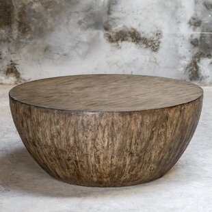 Bone Round Wood Coffee Table