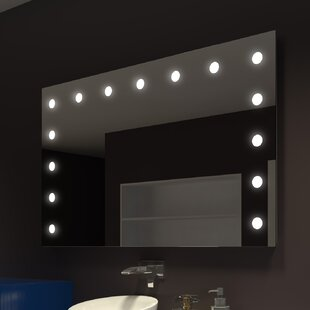 Price Check Tarek Illuminated Wall Mirror By Everly Quinn