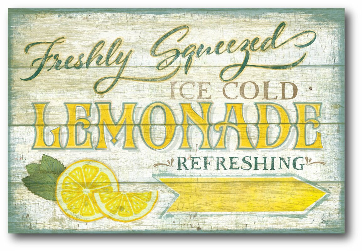 Courtside Market Farmhouse Canvas Lemonade Sign Vintage ...Lemonade Sign