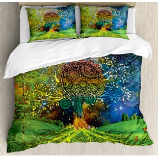 Indian Tree in the Valley Duvet Cover Set