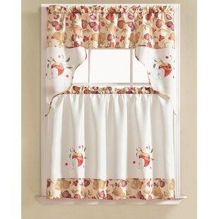 Gironde Apple 3 Piece Kitchen Curtain Set by August Grove