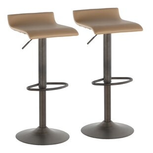 Camargo Adjustable Height Swivel Bar Stool (Set of 2)