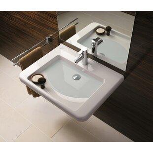 Renova Ceramic 22 inch  Wall Mount Bathroom Sink with Overflow