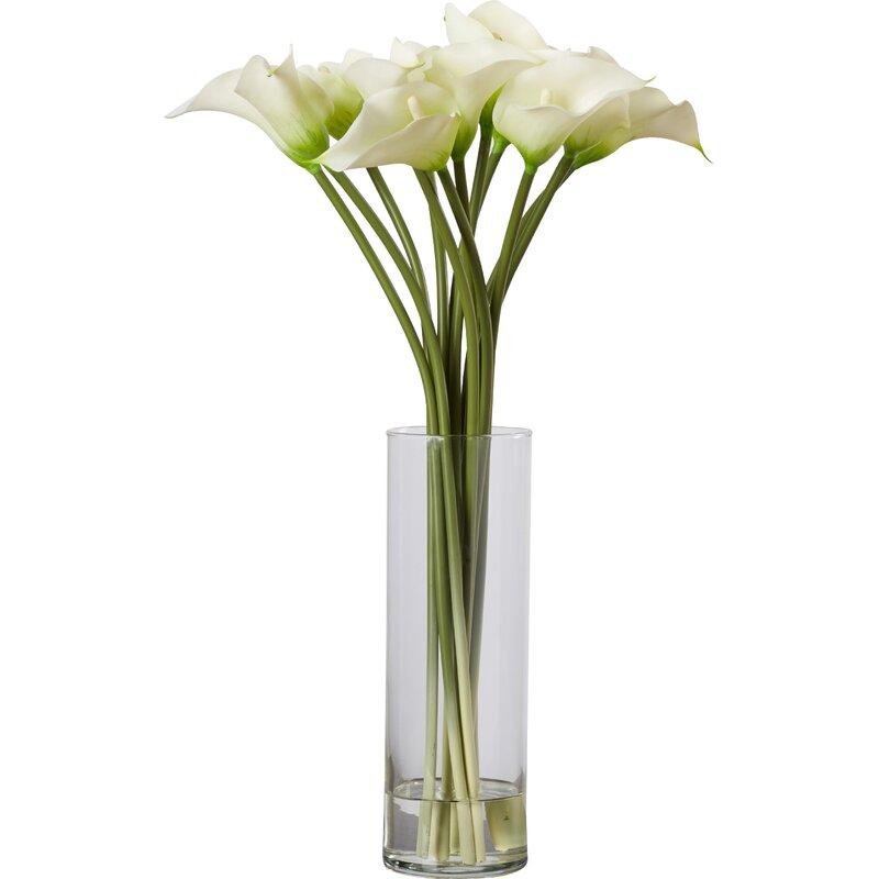 Calla Lilies Floral Arrangement In Vase Reviews Joss Main