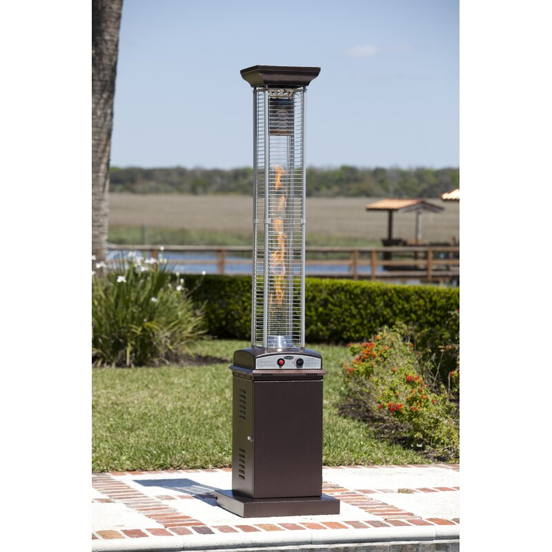 Hammered Square Flame 46 000 Btu Propane Patio Heater