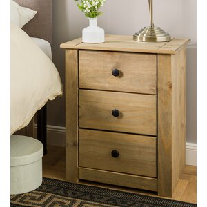 Harold Parker 3 Drawer Bedside Table