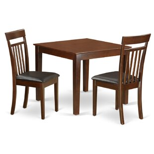 Cobleskill Faux Leather 3 Piece Dining Set Alcott Hill