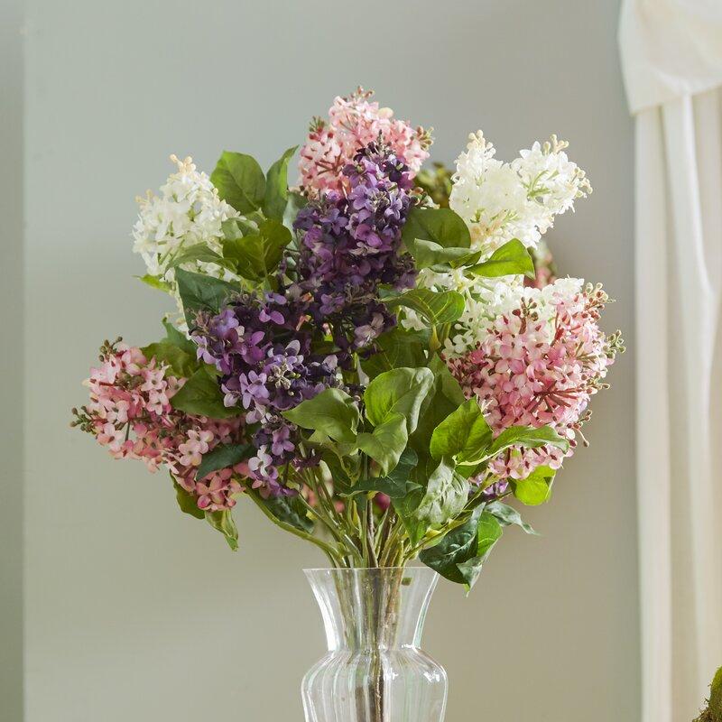 Darby Home Co Glenham Lilac Silk Flower Arrangement Reviews Wayfair