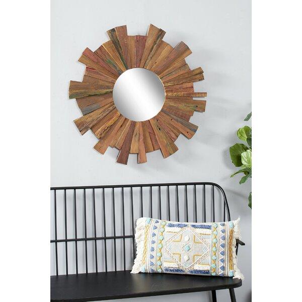 Round Reclaimed Wood Mirror Wayfair