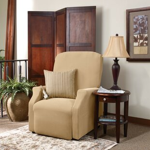 Stretch Pique Box Cushion Recliner Slipcover