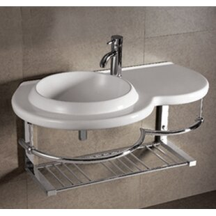 Compare & Buy Isabella Ceramic 36 Wall Mount Bathroom Sink ByWhitehaus Collection