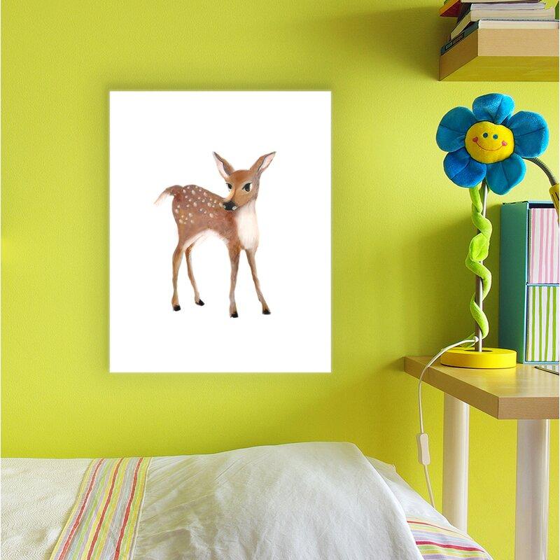 Harriet Bee \'Baby Deer Illustration\' Wall Art | Wayfair