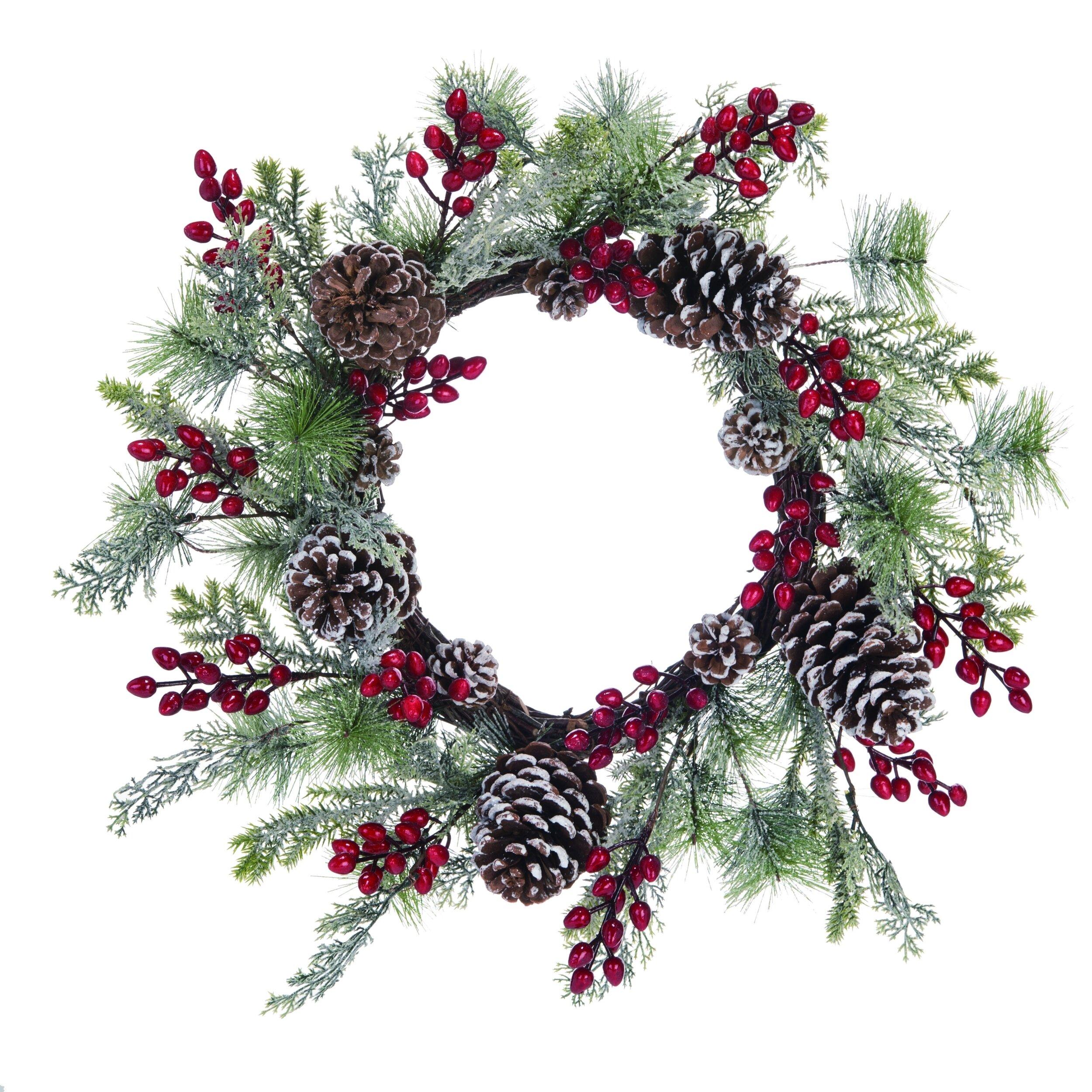 The Holiday Aisle Christmas Holly 20 Plastic Wreath Wayfair
