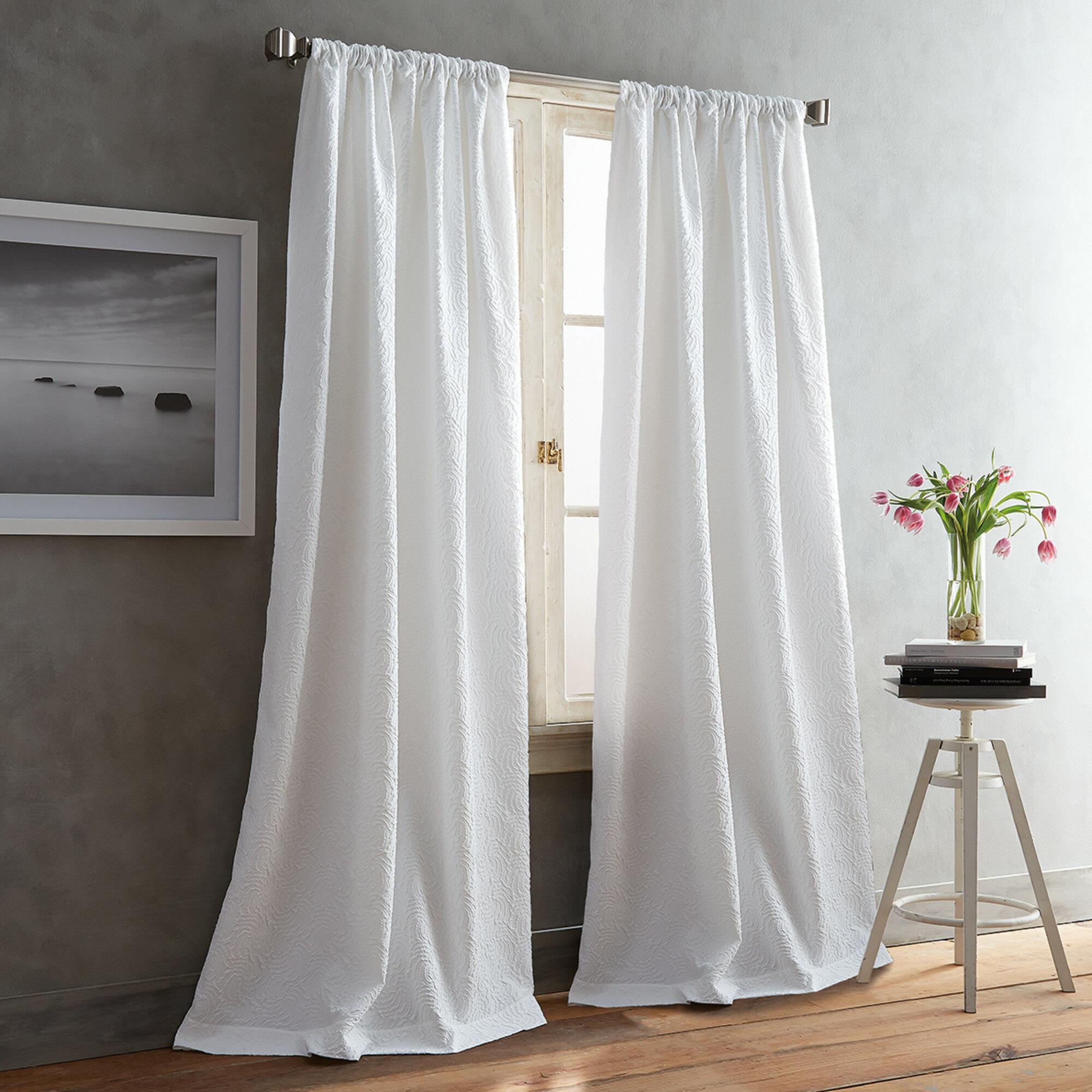 Dkny Cloud Solid Color Room Darkening Rod Pocket Curtain Panels Reviews Wayfair