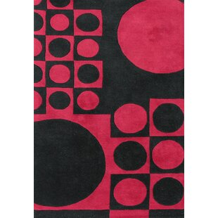 Price comparison Alliyah Black/ Red Area Rug By James Bond