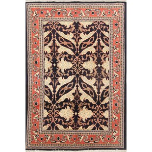 Big Save One-of-a-Kind Thiel Sarouk Sultanabad Genuine Persian Hand-Knotted 6'10 x 10' Wool Rust/Ivory/Black Area Rug By Isabelline