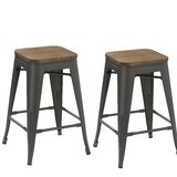 Frances 30 Stackable Bar Stool (Set of 2) by Williston Forge