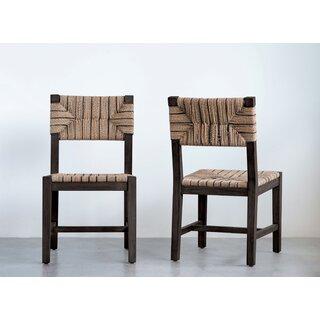 Allenbie Mango Solid Wood Dining Chair by Bungalow Rose SKU:DA739129 Description