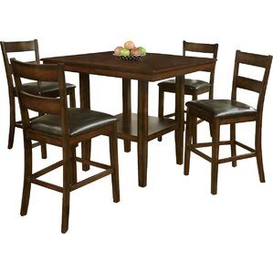 Shorebilly 5 Piece Counter Height Dining Set by Red Barrel Studio