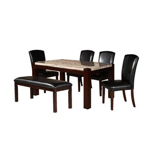Dunnstown 5 Piece Dining Set DarHome Co