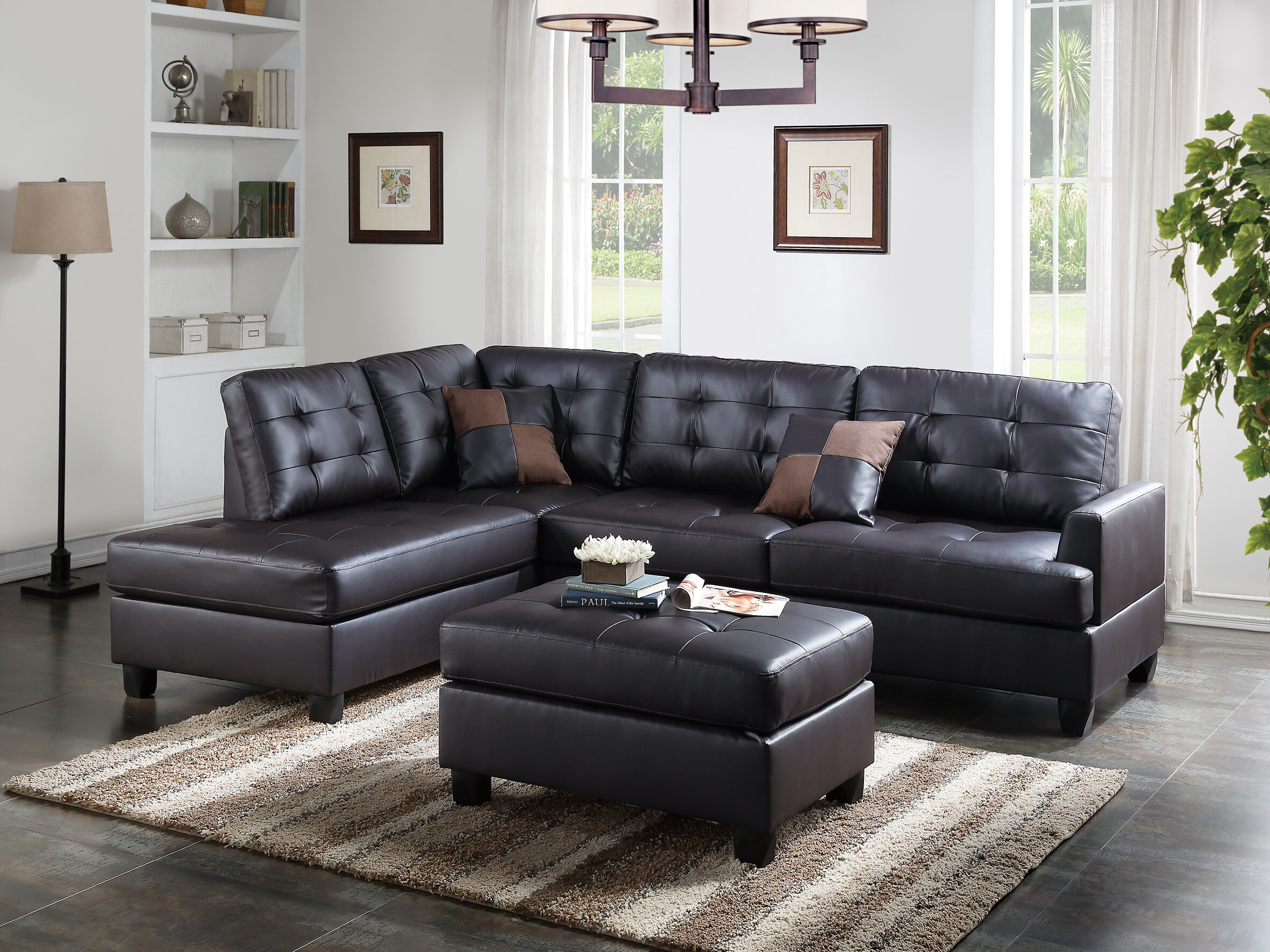 Faux Leather Sectionals You Ll Love In