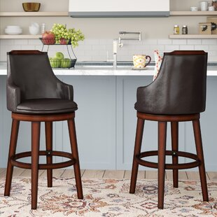 Allenville 29 Swivel Bar Stool (Set of 2) Three Posts