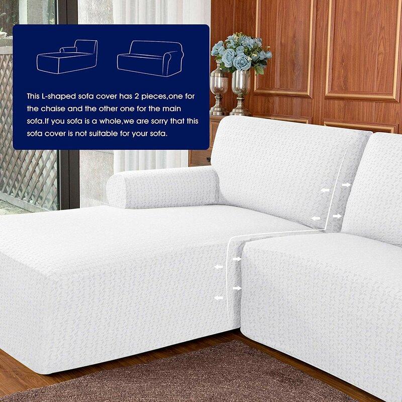 L Shaped Box Cushion Sofa Slipcover
