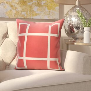 Harford Geometric Outdoor Throw pillow