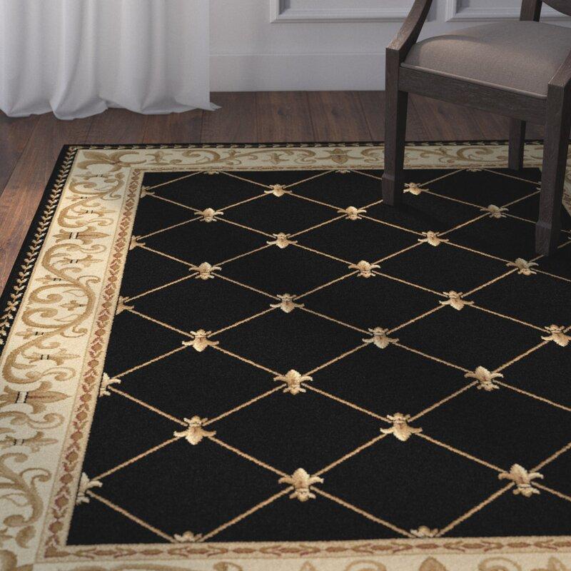 default_name - Astoria Grand Clarence Black/Gold Area Rug & Reviews Wayfair
