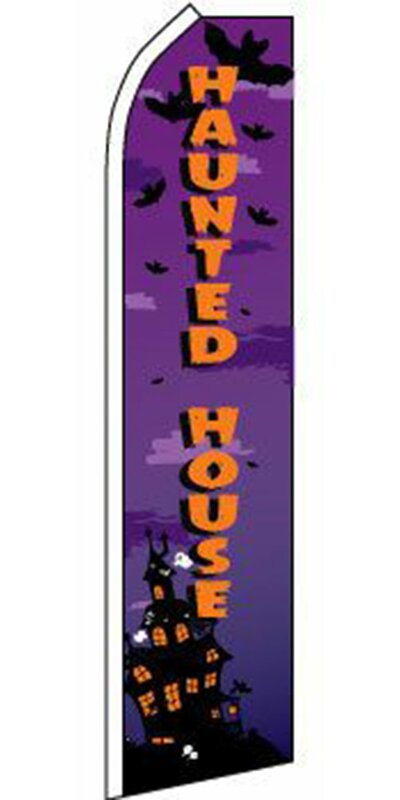 Neoplex Haunted House Windless Polyester 138 X 30 In Feather Banner Wayfair