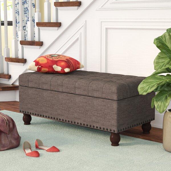 Three Posts Gourley Fabric Storage Bench U0026 Reviews | Wayfair