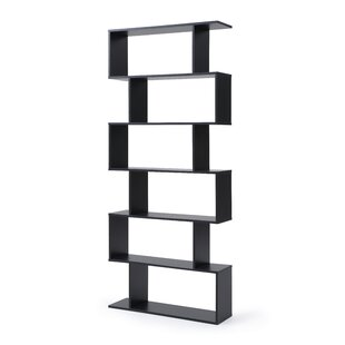 Deboer Staggered 6 Shelf Geometric Bookcase