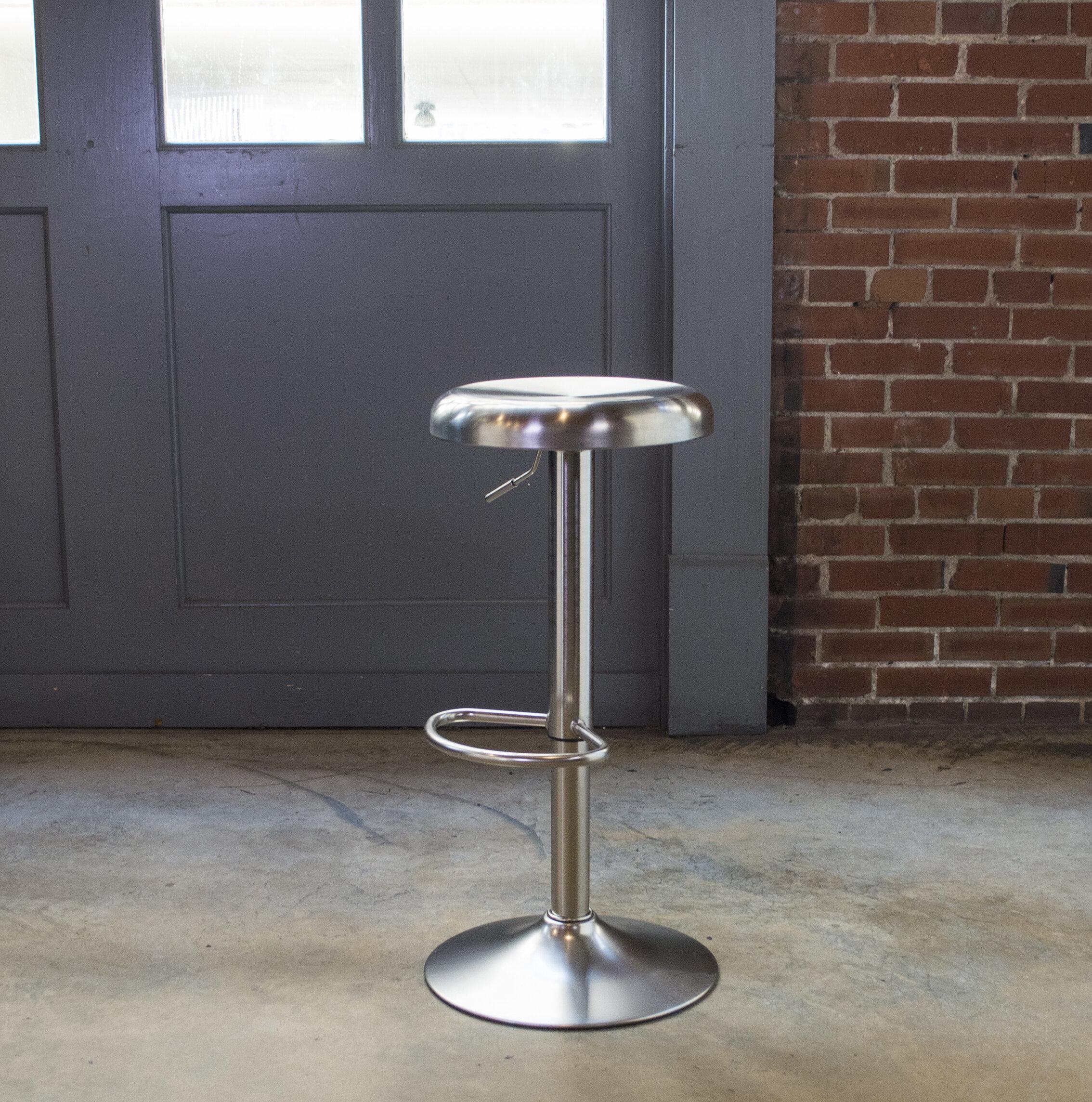 Williston Forge Winon Swivel Adjustable Height Bar Stool Reviews Wayfair