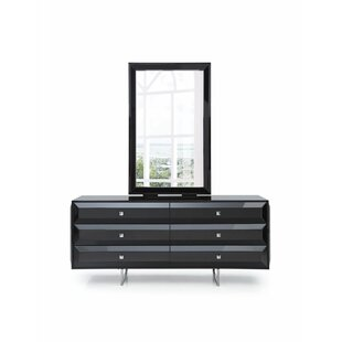 Aesara 6 Drawer Double Dresser with Mirror