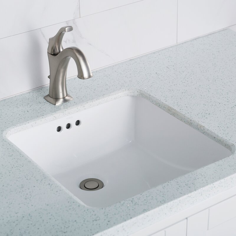 Kcu 231 Kraus Elavo Ceramic Square Undermount Bathroom Sink With Overflow Amp Reviews Wayfair