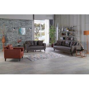 Mckee 3 Piece Sleeper Living Room Set by Corrigan Studio