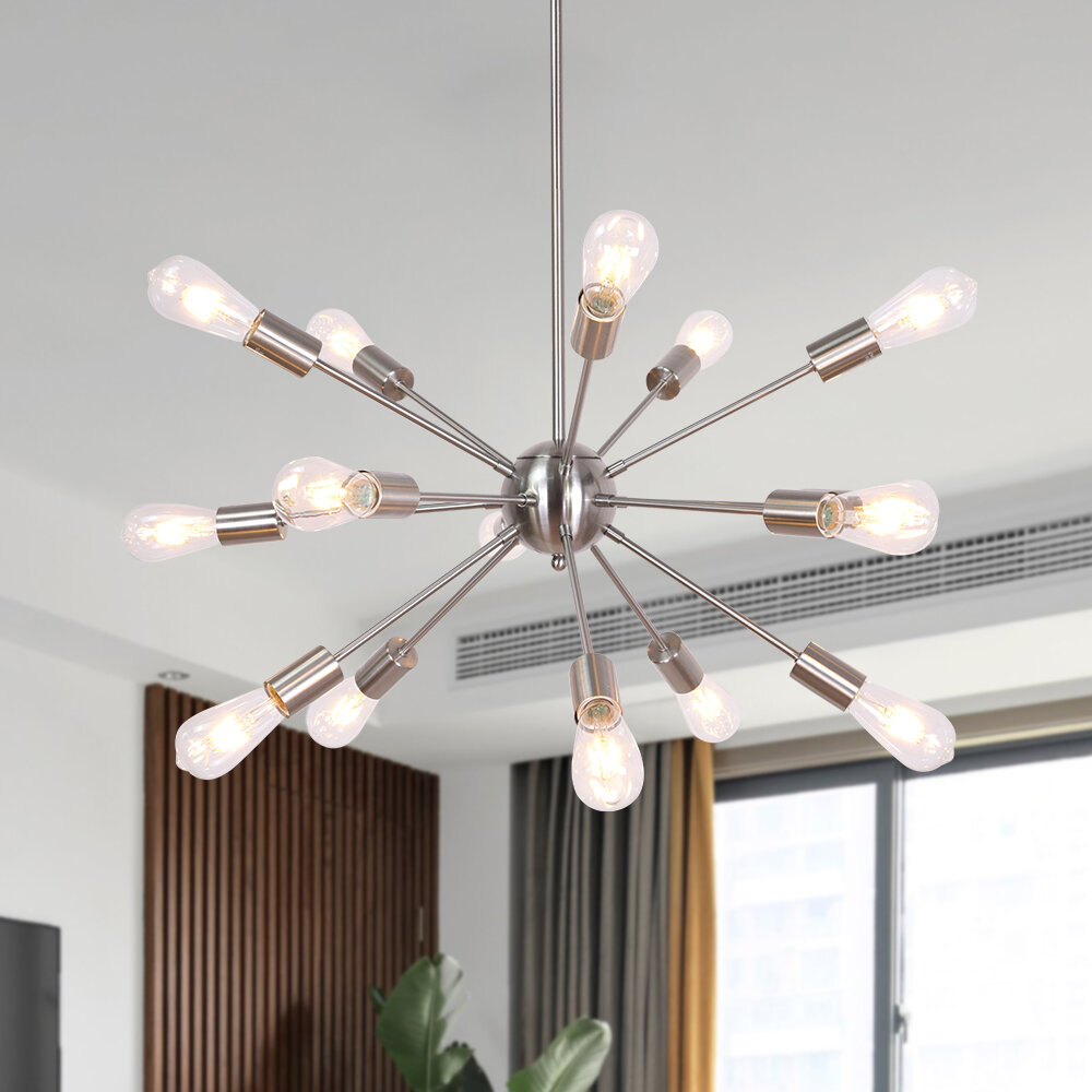 Everly Quinn Janesville 15 Light Sputnik Sphere Chandelier Reviews Wayfair