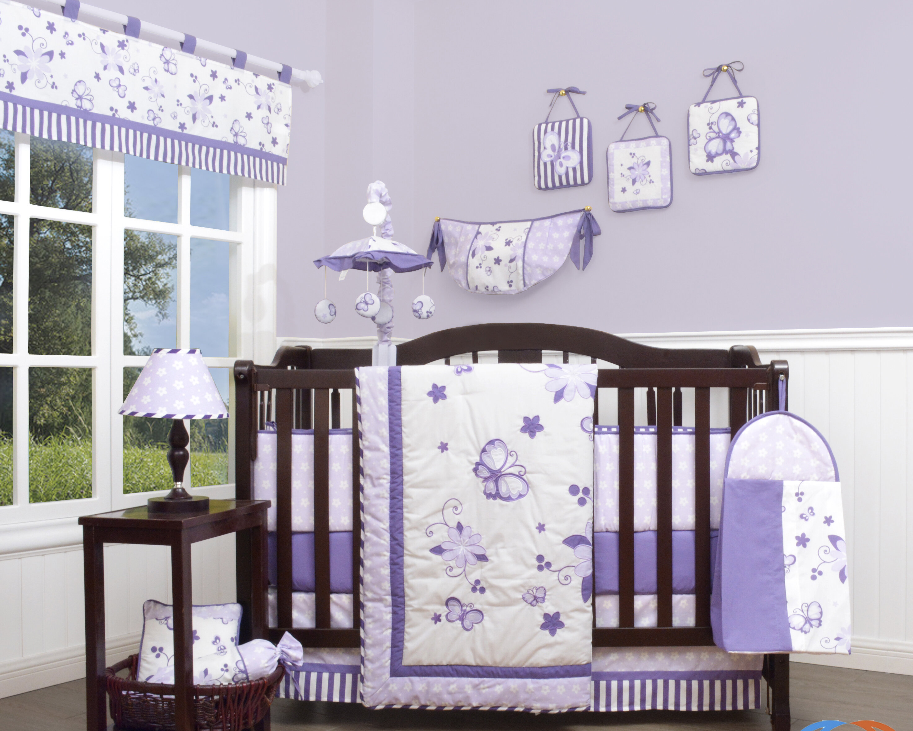Image of: Geenny New Butterfly 12 Piece Crib Bedding Set Reviews Wayfair