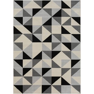 Price Check Huerta Black/Gray Area Rug ByWrought Studio