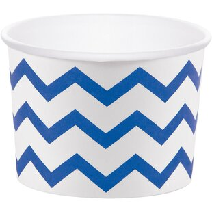 Chevron Paper Disposable Cup (Set of 24)