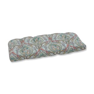 Pretty Witty Reef Indoor Outdoor Loveseat Cushion