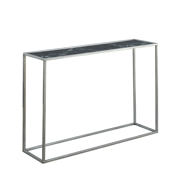 Theydon Faux Marble Console Table Reviews Allmodern