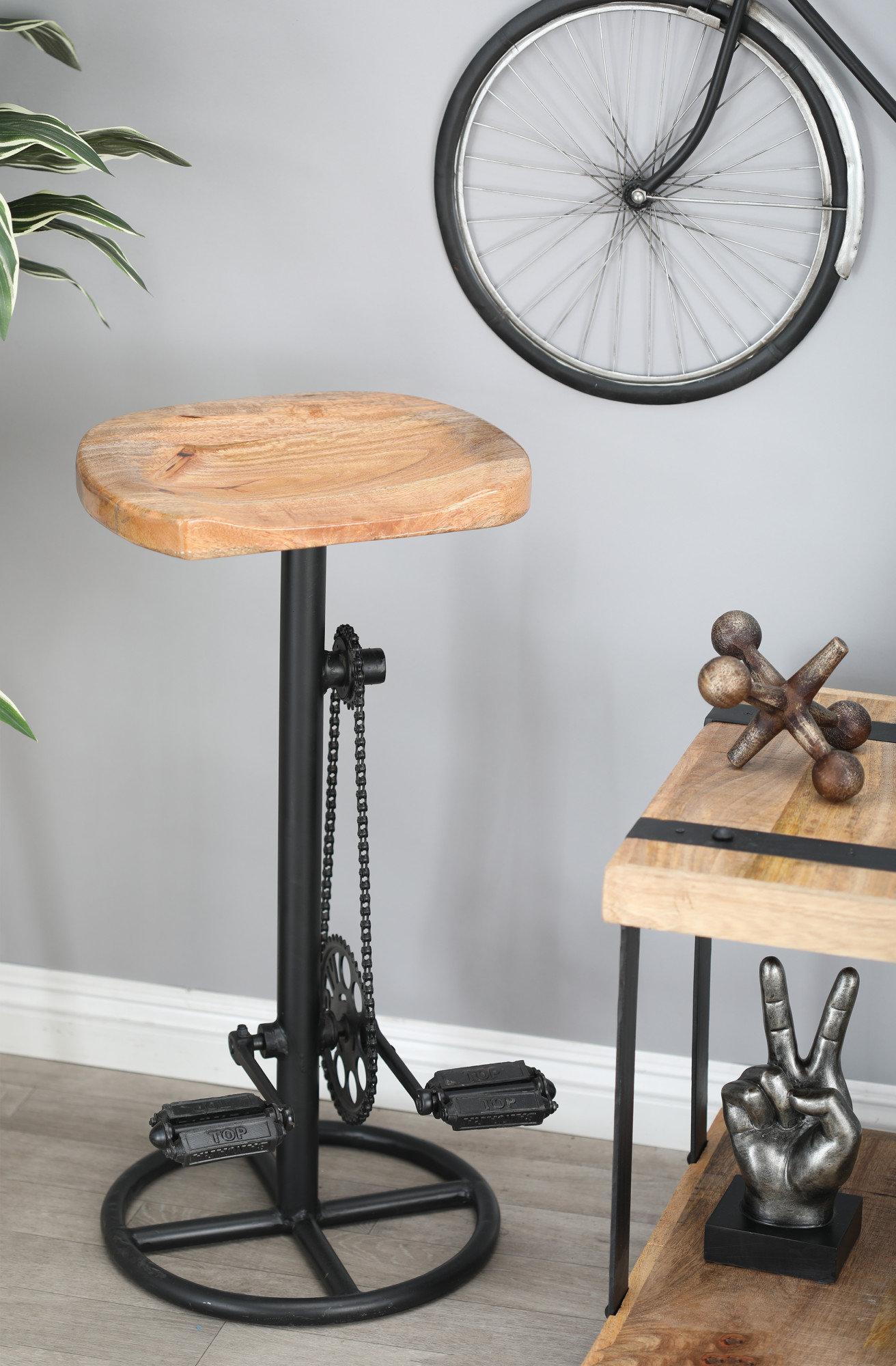 Tremendous Atalla Industrial Pedal And Gears 32 Bar Stool Inzonedesignstudio Interior Chair Design Inzonedesignstudiocom
