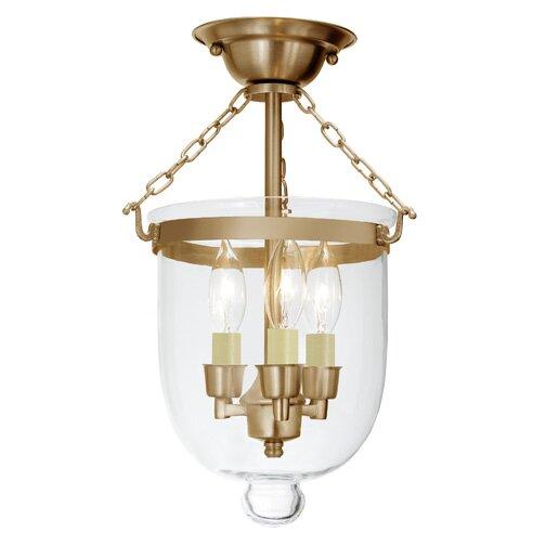 Sarahi 3-Light Small Bell Jar Semi Flush Mount