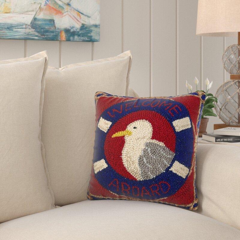 Longshore Tides Izaiah Wool Throw Pillow Wayfair