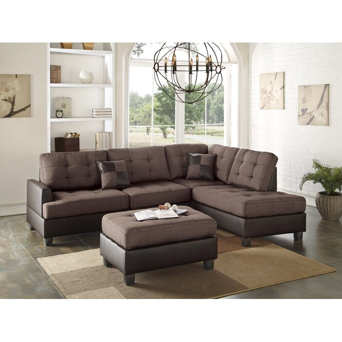Outstanding Smart Right Hand Facing Sectional With Ottoman Pdpeps Interior Chair Design Pdpepsorg