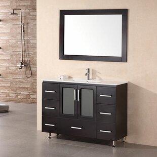 Pratt 48 Single Modern Bathroom Vanity Set with Mirror by dCOR design