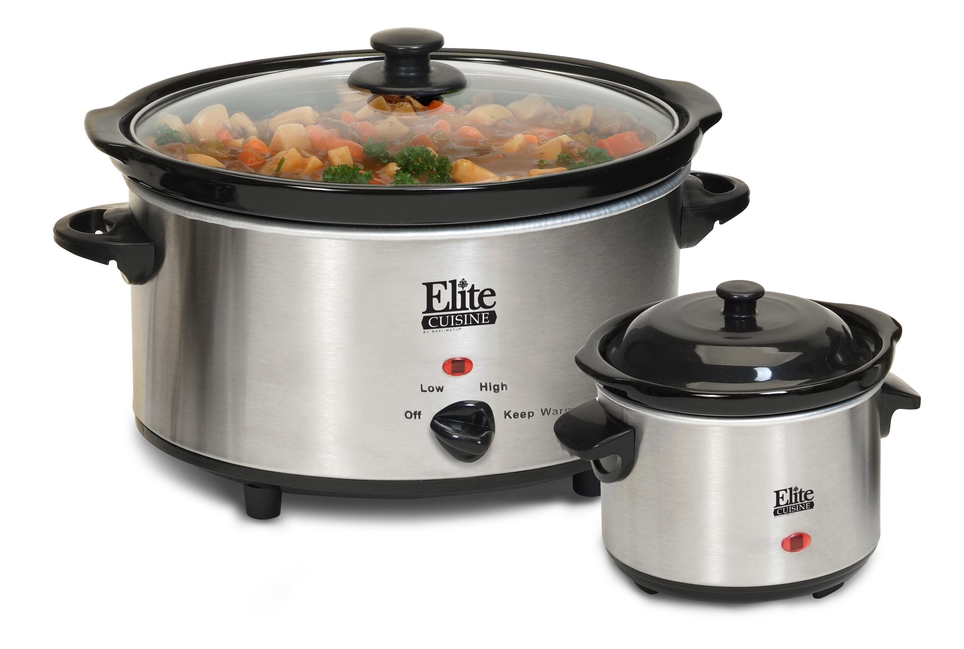 Elite by Maxi-Matic Cuisine 5-Quart Slow Cooker with Mini Dipper