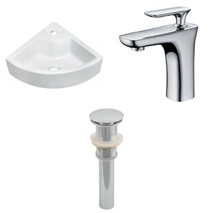 Above Counter Ceramic Specialty Vessel Bathroom Sink with Faucet by Royal Purple Bath Kitchen
